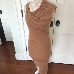 Helmut Lang asymmetrical soft draped dress